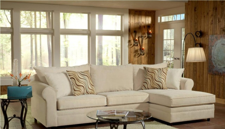 Sophie 2PC Sectional Sofa - Bella Buckwheat