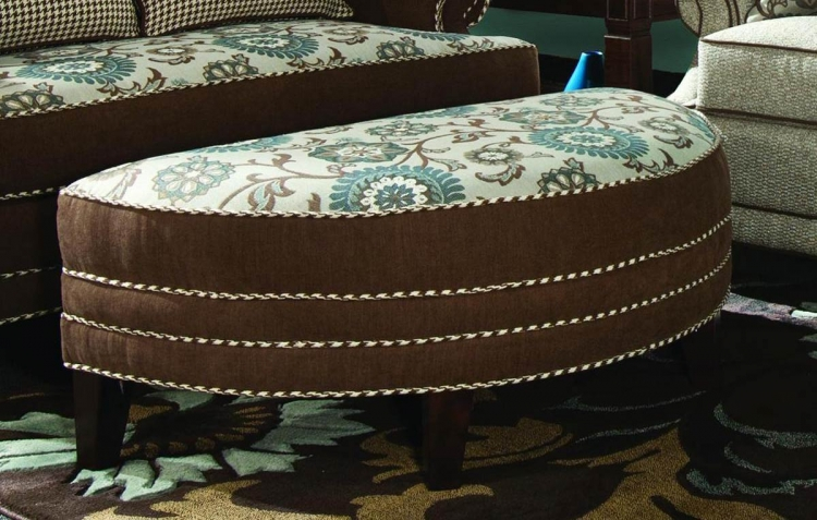 Corrina Half Moon Ottoman - Voyager Cobblestone/Brown Eyed Girl