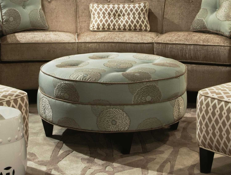 Esse Round Ottoman - Beverly Drizzle
