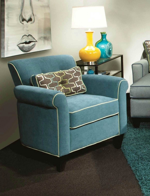Tiffany Accent Chair - Jukebox Blueberry