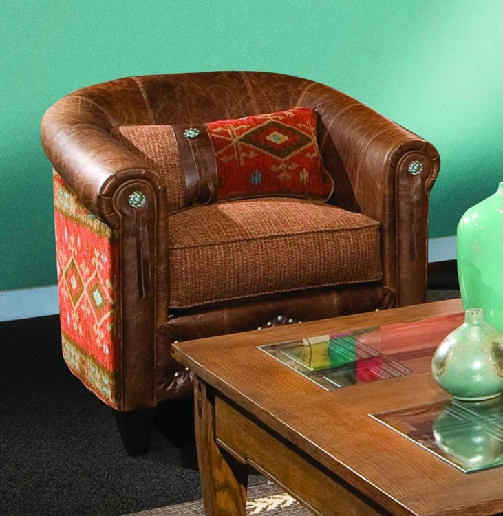 Daltry Chair - Stagecoach Redwood/Black Canyon Earth
