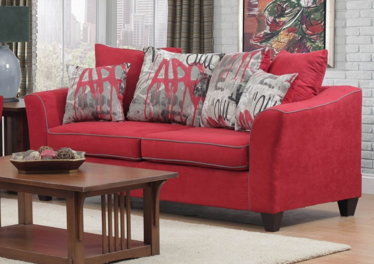 Brier Sofa Set - Red