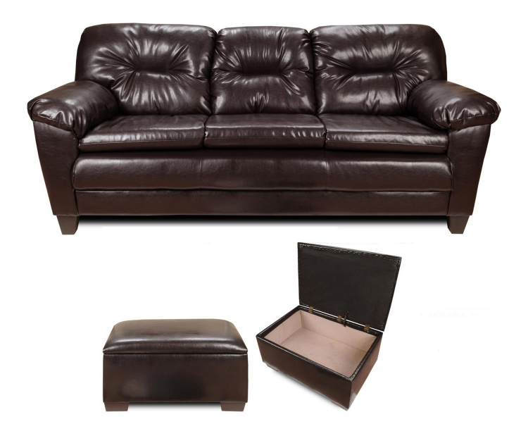 Bridget Sofa Set - Denver Mocha