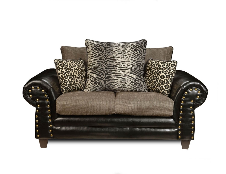 Colbie Loveseat - Denver Black/Romance Graphite
