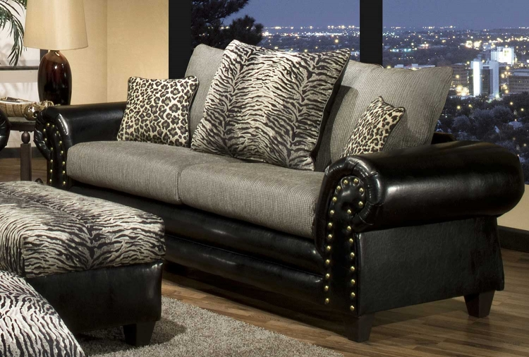 Caldwell Sofa - Black/Grey