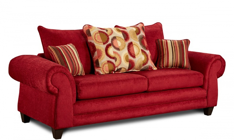 Global Furniture Usa 559 Love Seat Beige Orange Gf U559