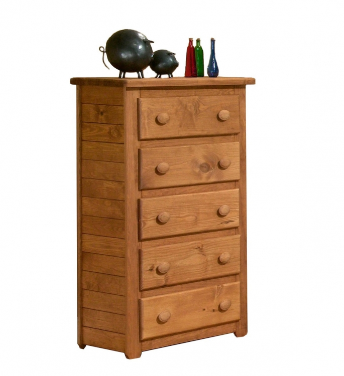 31005 5 Drawer Chest - Ginger Stain