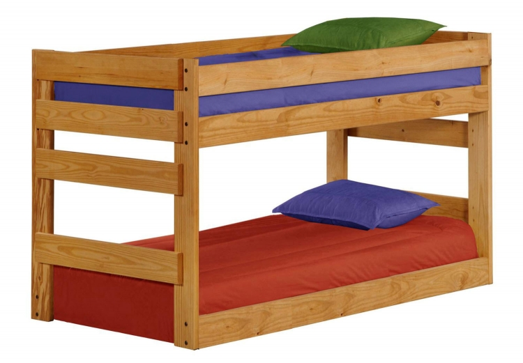 312005 Twin Over Twin Junior Bunk Bed - Ginger Stain