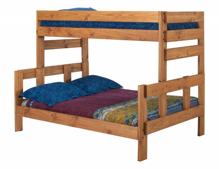 312006 Twin Over Full Bunk Bed - Ginger Stain