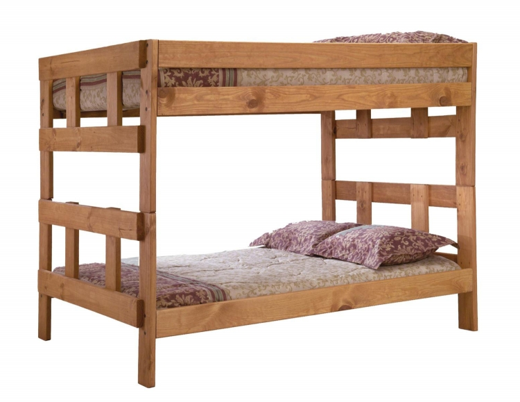 312007 Full Over Full Bunk Bed - Ginger Stain