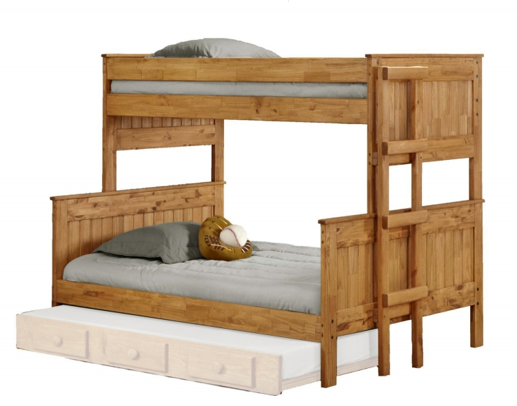 312009-450 Twin Over Full Stackable Bunk Bed - Ginger Stain