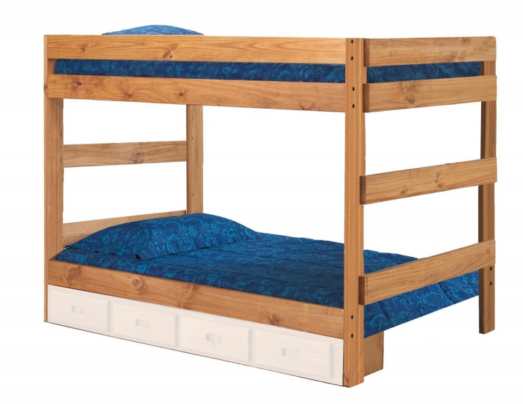 312010-411 Full Over Full One Piece Bunk Bed - Ginger Stain