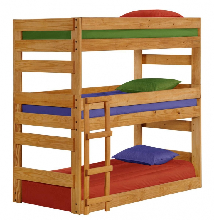 312500 Twin Triple Bunk Bed - Ginger Stain