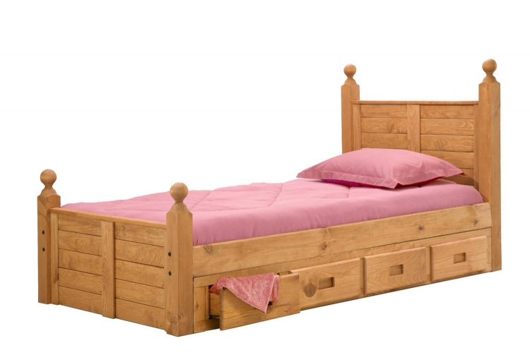 31349-411 Twin Bed with Storage - Ginger Stain