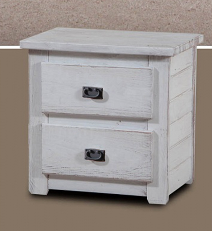 Night Stand - White Distressed