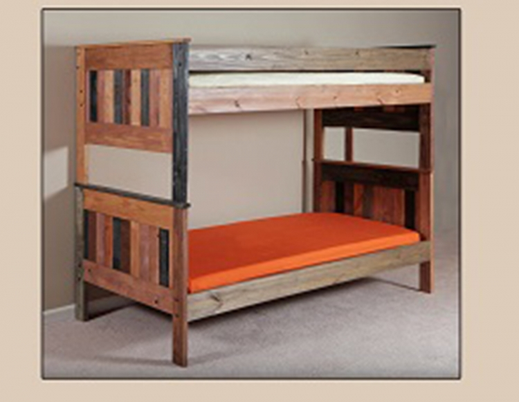 Twin/Twin Stackable Bunk Bed - Multi-Color