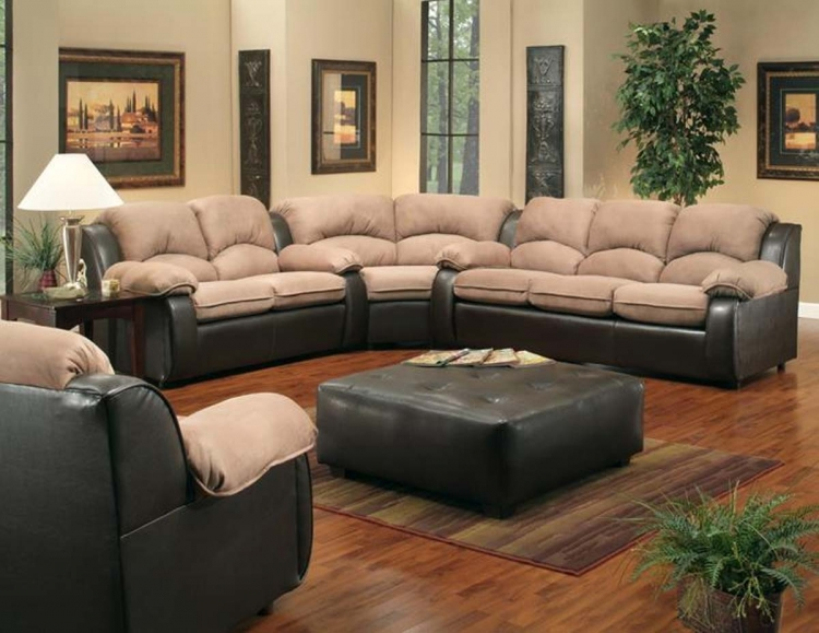 Walter Sectional Sofa Set - El Paso Mocha/Padde Suede Saddle - Chelsea
