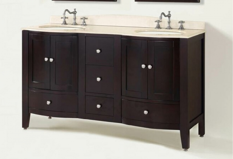 Loft 60-inch Vanity with Mirror - Espresso