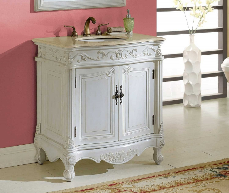 Villa 32-inch Vanity - Antique White
