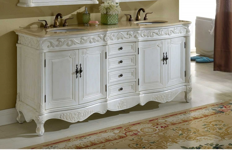 Villa 72-inch Vanity - Antique White