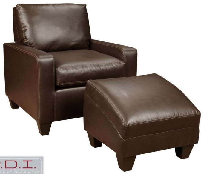 Martin Chair and Ottoman - Dodge Chocolate - Chelsea
