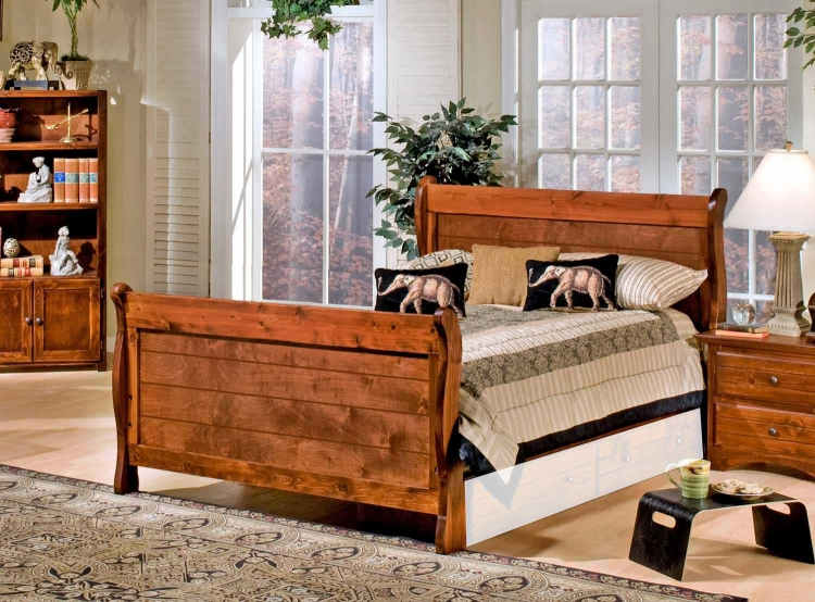 3524489-4491 Full Sleigh Bed - Cocoa