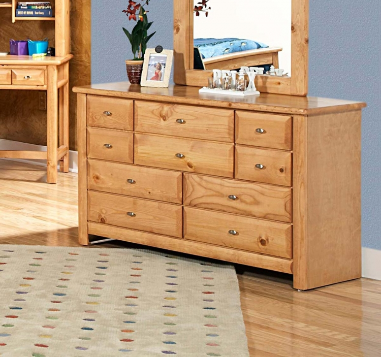 3534535-C 9 Drawer Dresser - Caramel