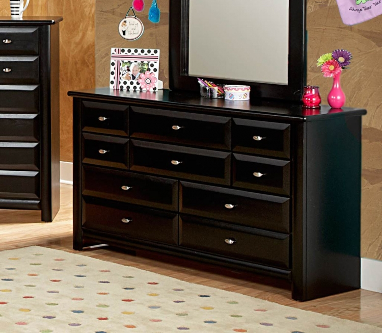 3534535 9 Drawer Dresser - Black Cherry