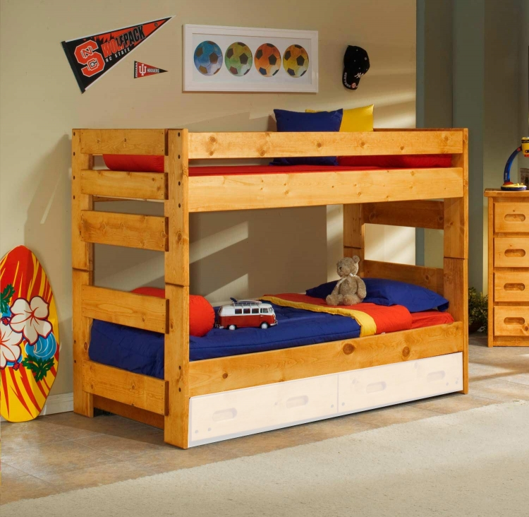 3544710-4711 Twin Over Twin Bunk Bed - Cinnamon