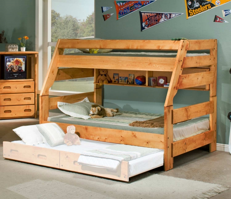 3544720-4739 Twin Over Full Bunk Bed - Cinnamon