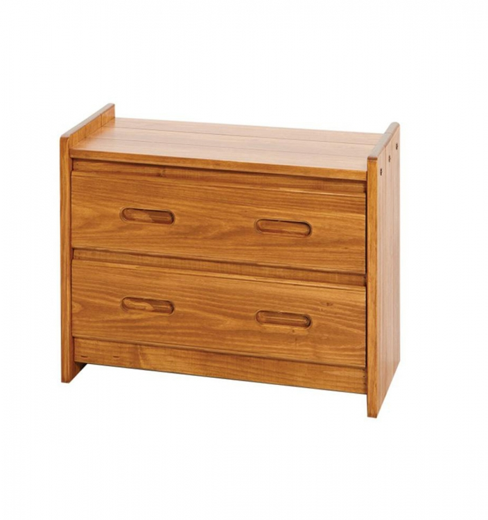 360022 2 Drawer Chest - Honey