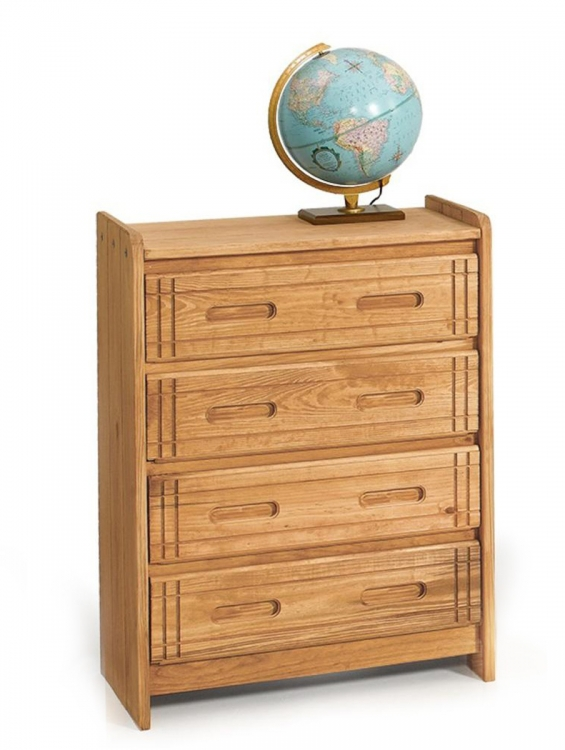 360024-W 4 Drawer Chest - Honey