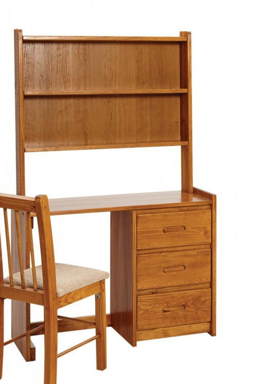 360031-003 Desk with Hutch - Honey