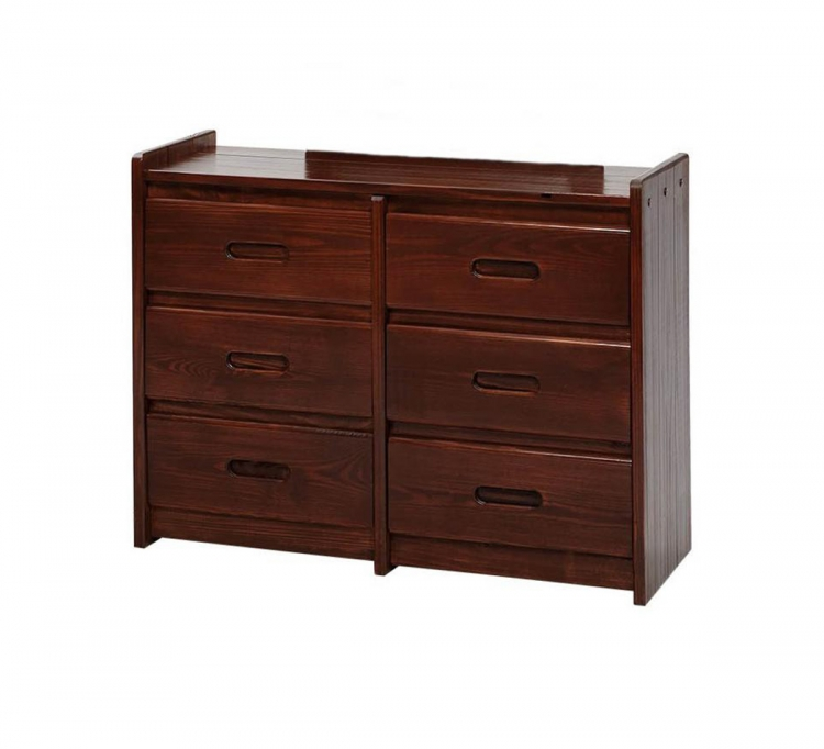 360066-D 6 Drawer Dresser - Dark