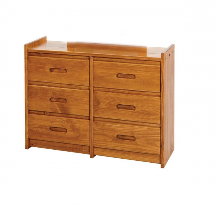 360066 6 Drawer Dresser - Honey