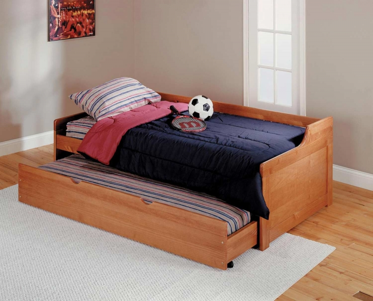 362000 Twin Trundle Bed - Honey