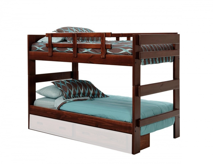 3626023 Twin Over Twin Stacking Bunk Bed - Dark
