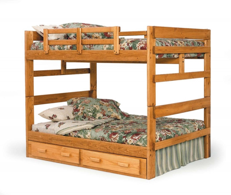 3626541-S Full Over Full Bunk with Underbed Storage - Honey