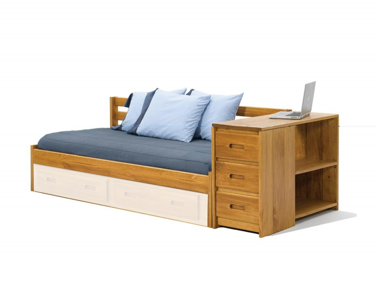 363001 Day Bed with Reversible End Storage - Honey