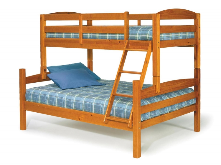 3641000 Twin Over Full Bunk Bed - Honey