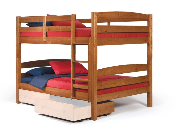 3641540 Full Over Full Bunk Bed - Honey