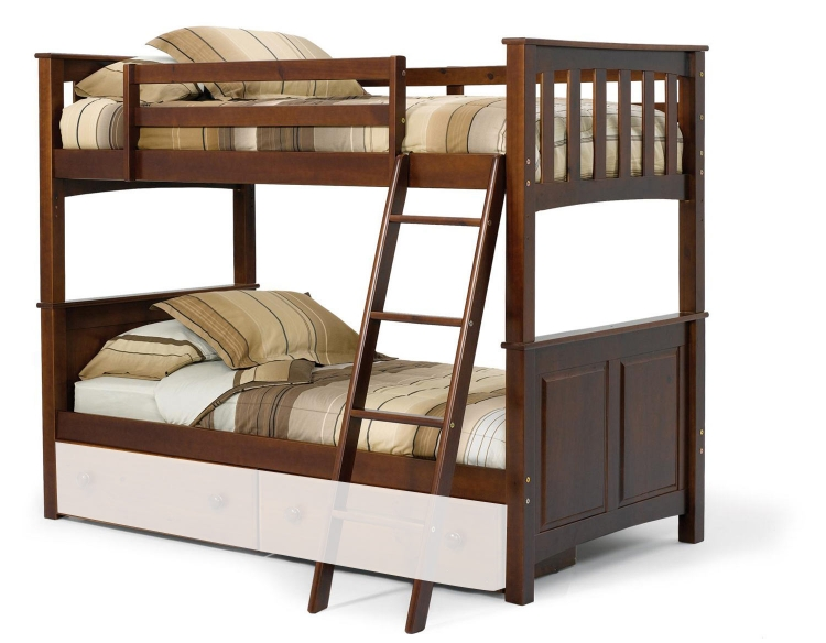 3652000 Twin Over Twin Mission Panel Bunk Bed - Dark