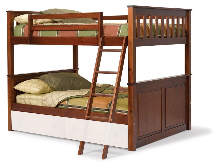 3652540 Full Over Full Mission Panel Bunk Bed - Dark