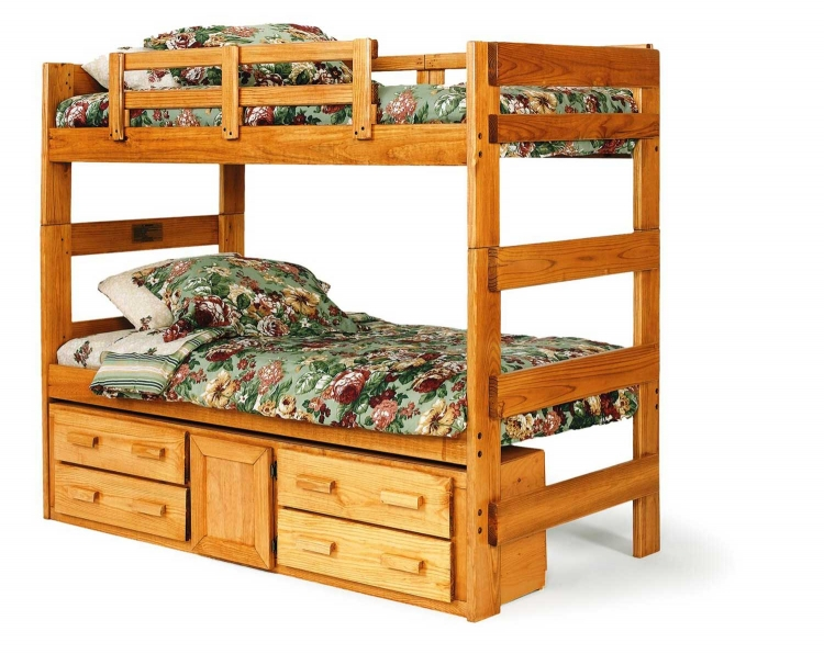 3662001-1305 Extra Tall Twin Over Twin with Underbed Storage - Honey