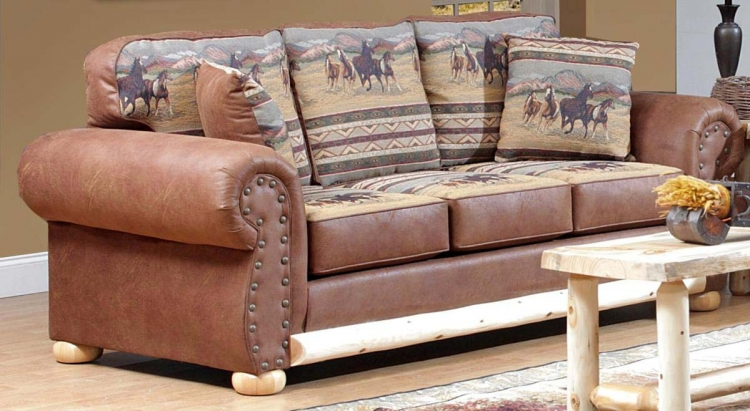 Bonanza Sofa - Paint/Cochise Saddle - Chelsea