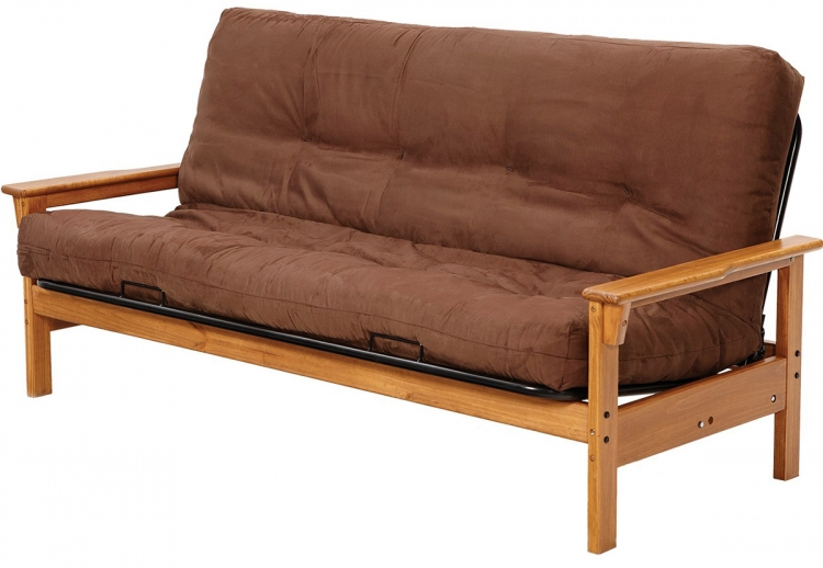 Full Pine Futon Frame - Honey
