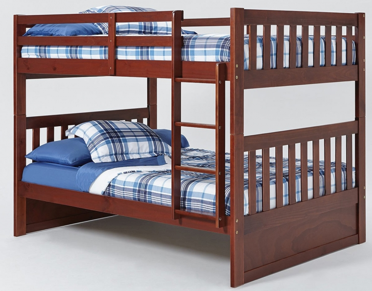 Full Over Full Mission Bunk Bed - Chocolate