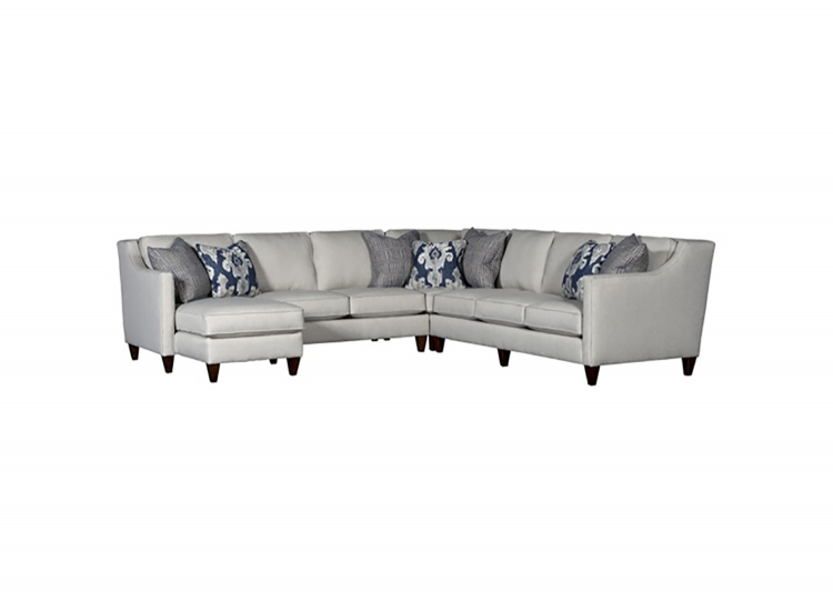 Tisbury Sectional Sofa - Grey