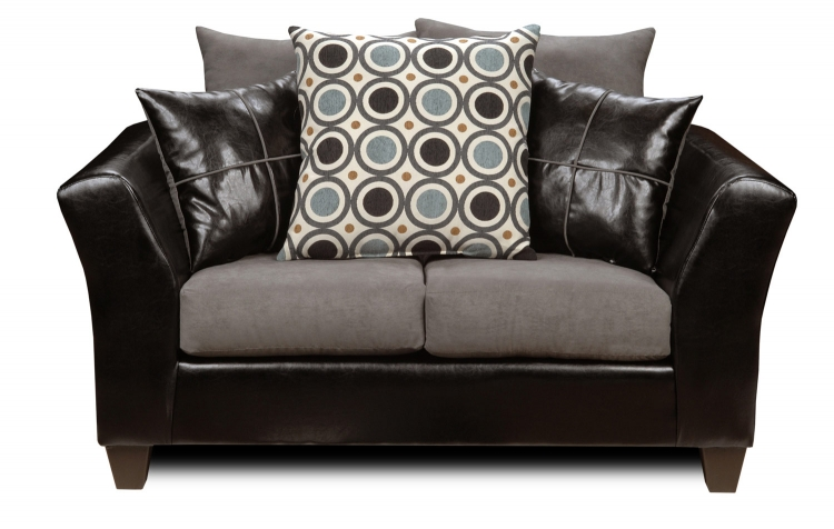 Holly Loveseat - Denver Black/Flat Suede Graphite