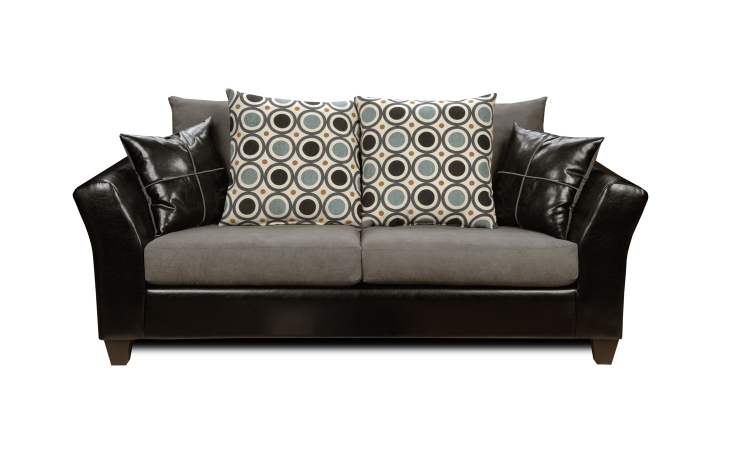 Holly Sofa Set - Denver Black/Flat Suede Graphite